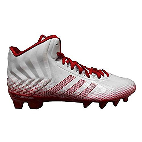 Adidas Menns Crazyquick Midten Fotball Cleats (9,5, Kjører Hvit / Unired / Unired)