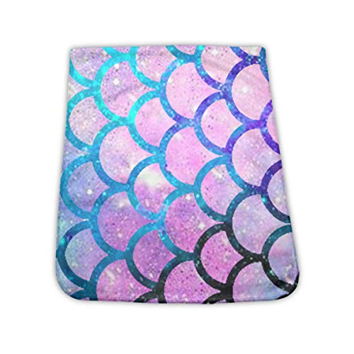 NiYoung Instant Cooling Relief Yoga Towel, Super Soft Sweat Towel, Sports & Travel Ice Towel, Workout Fitness Gym Yoga Beach Golf Chilly Towel - Mermaid Scales with Galaxy