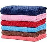 Akin Towel Cotton Hand Set 500 GSM (40X60Cm, Multicolour) - 6 Piece