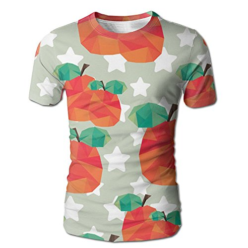 Lychee Art Design Poster Fashion Basic Men's Graphic T-Shirt