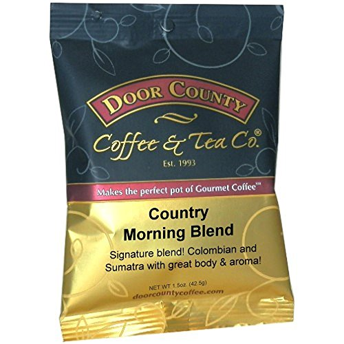 Door County Coffee, Country Morning Blend, Ground, 1.5oz Full-Pot Bag