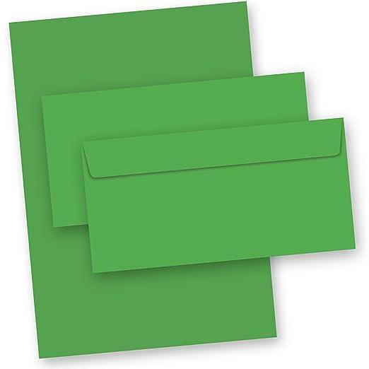 Briefpapier Grün 50 Teilig Inkl Kuverts 30 Briefbogen Din A4