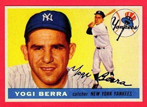 Yogi Berra 1955 Topps Baseball Reprint Card - Memorabilia Berra Yogi