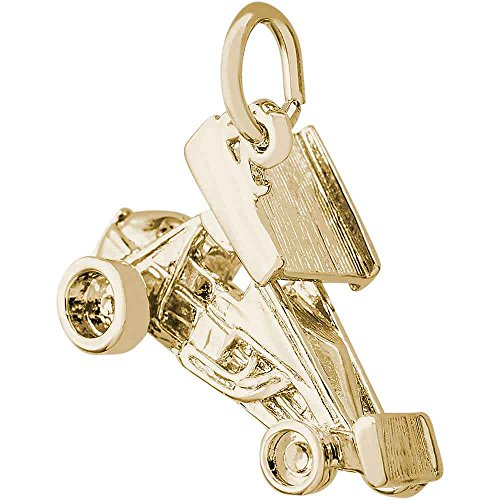 Rembrandt Charms Sprint Car with Wings Charm, 10K Yellow Gold ()