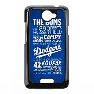 Custom General phone case, Baseball sport, Los Angeles Dodgers logo picture black plastic case For HTC One X