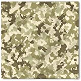 Ambesonne Camo Bandana, Camouflage Survival Theme, Unisex Head and Neck Tie