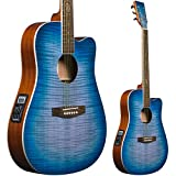 Lindo BTC Bitcoin Slim Body Electro Acoustic Guitar with F-4T Preamp/Tuner/EQ and Gig Bag