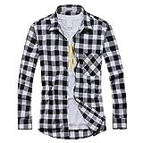 OCHENTA Men's Button Down Checkered Flannel Tops