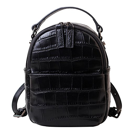a pelle in Borsa Sprnb vento femminile tracolla nero nero in zaino college borsa pelle testa dwqEZzq