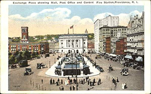 Exchange Place Showing Mall Providence, Rhode Island Original Vintage - Mall Rhode Island Providence