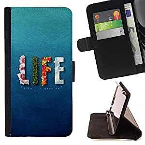 Jordan Colourful Shop - LIFE design Message For Apple Iphone 5C - Leather Case Absorci???¡¯???€????€??????????&fnof