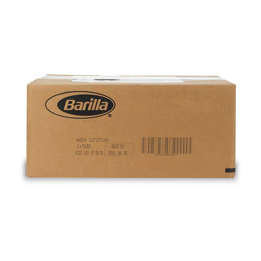 Ziti Cut Pasta, 10 Pound - 2 Case