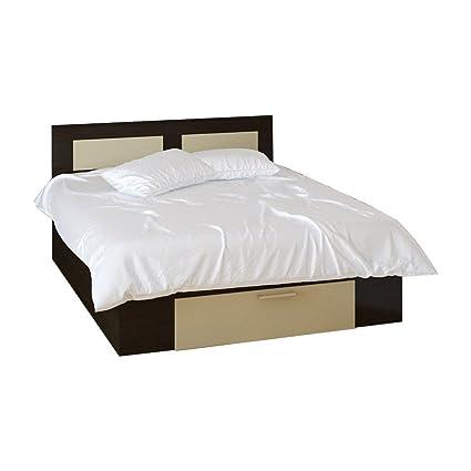 Letto Stefan camera da letto con cassetto wengé + 160x200 beige ...
