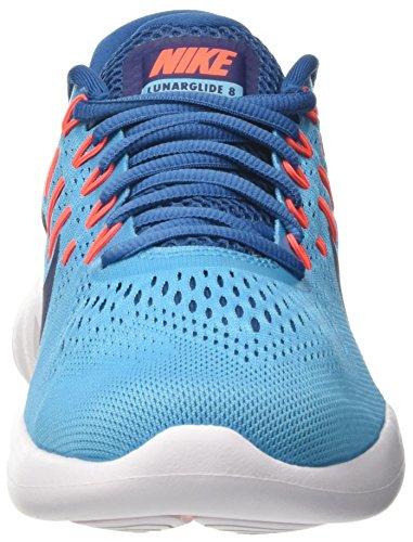 Nike Lunarglide 8, Scarpe da Corsa Uomo Turchese (Chlorine Blue/Binary Blue/Industrial Blue/Hyper Orange/White)