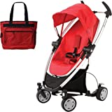 Quinny CV080RLRKIT Zapp Xtra Stroller - Rebel Red with diaper bag