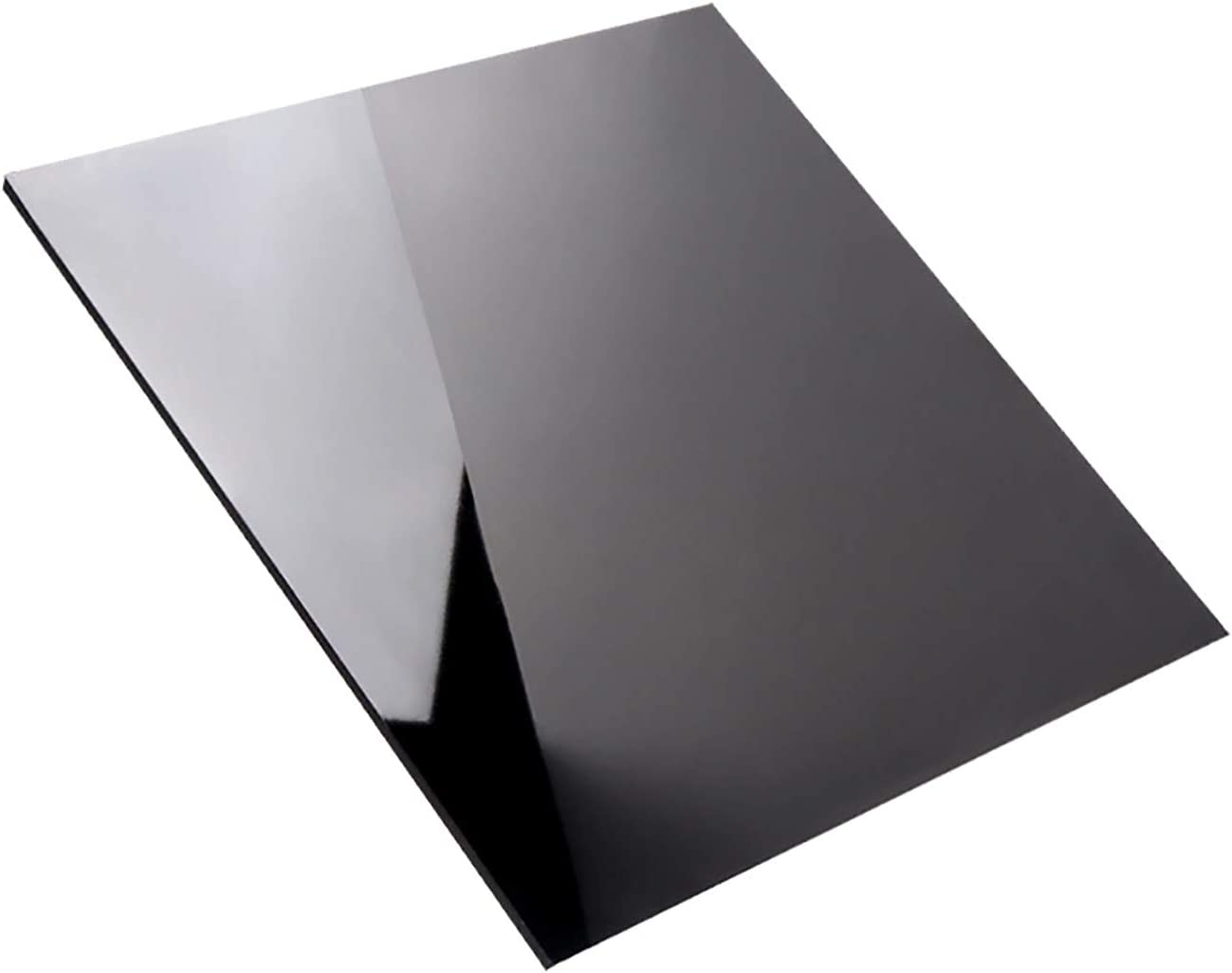 SQINAA Hoja De Acr/ílico Negro Mate 12 X 12 Pulgadas Sesi/ón De Bricolaje Pintura Trabajos De Visualizaci/ón,300x300x3mm