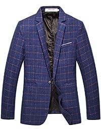 Men's Slim Fit One Button Lightweight Casual Blazer Jacket