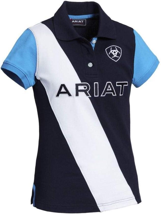 Navy//Nautilus ARIAT Girls Taryn Short Sleeved Polo Shirt