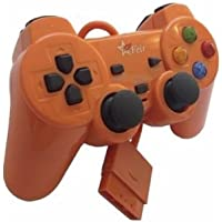Controle com Fio para PS2 Feir - Laranja - FR-206