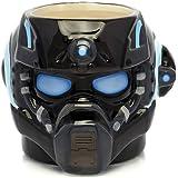 Gears of War Coffee Mug, Clayton Carmine Helmet Molded Ceramic Coffee Mug, 20oz