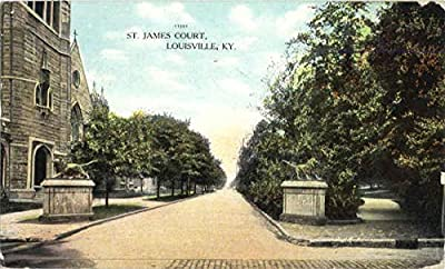 St. James Court Louisville, Kentucky Original Vintage Postcard
