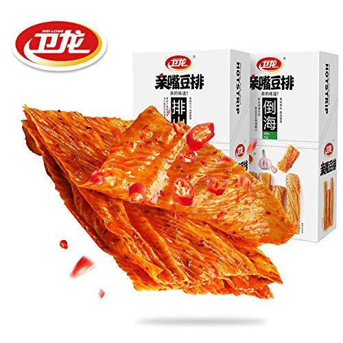 Weilong卫龙亲嘴豆排排360g麻辣零食豆干休闲小吃香辣味大刀肉 from 南方小吃
