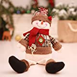Christmas Decorations Christmas Decoration Dolls Sitting Old Man Snowman Children's Holiday Gifts Window Decoration Party AB287 (Snowman)