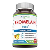 Pure Naturals Bromelain- 500 mg, 120 Tablets- Proteolytic Enzyme- Supports Digestion of Proteins*- Supports Joint Health*- Supports Nutrient Absorption*