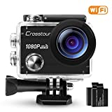 Crosstour Action Camera 1080P Full HD Wi-Fi 12MP Waterproof Cam 2