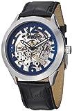 Stuhrling Original Men's 765.02 Symphony Aristocrat Commerce Mechanical Skeleton Blue Dial Watch