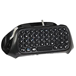 Teclado SmaAcc® Wireless Mini Bluetooth para DualShock 4- Mejor controlador de adaptador KeyPad PS4 PlayStation 4