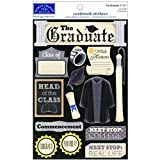 Karen Foster Design Acid and Lignin Free Scrapbooking Sticker Sheet, The Graduate