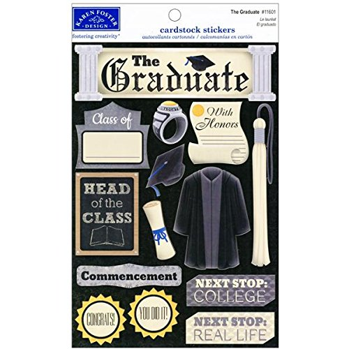 Karen Foster Design Acid and Lignin Free Scrapbooking Sticker Sheet, The Graduate (Card Designs Free)