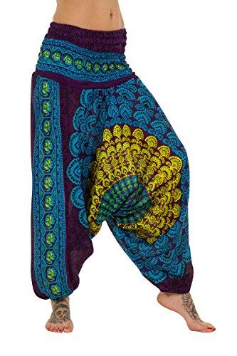 ThaiUK - Pantalón - para mujer Purple/Blue