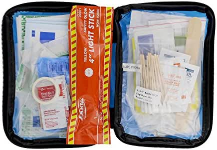 Abn 104 Piece Travel First Aid Kit Home, Office, Travel – Car Emergency Kit, Road Trip Essentials Medical Equipment