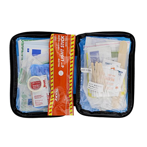 ABN 104 Piece Travel First Aid Kit Home, Office, Travel - Car Emergency Kit, Road Trip Essentials Medical Equipment ()