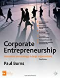 Corporate Entrepreneurship : Entrepreneurship and Innovation in Large Organisations, Burns, Paul, 0230304036