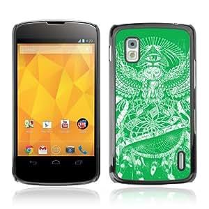 Designer Depo Hard Protection Case for LG Nexus 4 E960 / Owl Painting