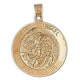 14k Yellow Gold St. Michael Pendant (45 x 27 mm)