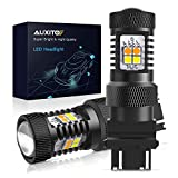AUXITO Extremely Bright 3030 Chipsets White and Amber Dual Color Switchback 3157 3155 3457 4157 LED Bulbs with Projector for Car Turn Signal Lights (Pack of 2)