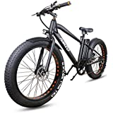 """NAKTO Electric Bike for Adults 26"""" 300W Electric Bicycle for Man Women High Speed Brushless Gear Motor 6-Speed Gear Speed E-Bike with Removable Waterproof 36V10A Lithium Battery and Charger"""