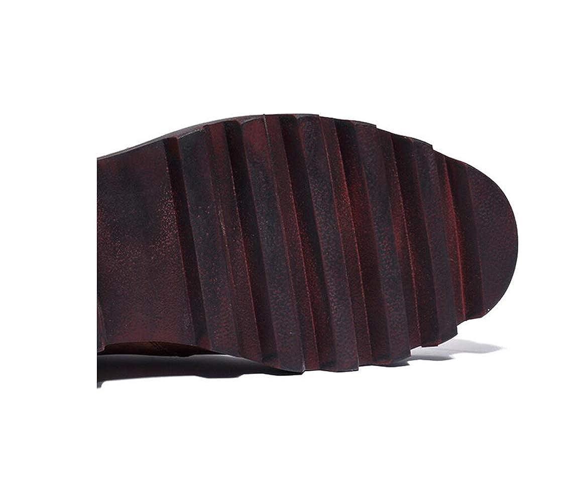 GGLZMMF GGLZMMF GGLZMMF High-Top-Vier-Jahreszeiten-Lederstiefel Für Herren Blau Burgund Braun Outdoor Atmungsaktiv Vintage Handarbeit B07KN79C63  0d9f2b