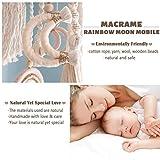 Macrame Rainbow Moon Baby Crib Nursery Mobile Wall