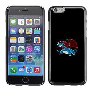 SKCASE Center / Funda Carcasa - Meter Monster Blue Dragon;;;;;;;; - iPhone 6