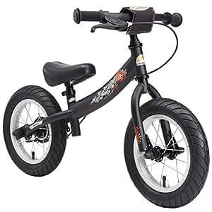 """BIKESTAR Bicicleta sin pedales para niños ★ 12 pulgadas ★ Color Negro ★ A partir de 3-4 años ★ 12"""" Sport Edition 2018"""