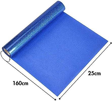 Topmail PVC Transferencia de Calor Vinilo Máquina de Prensa de Calor Corte Plotter Cortador Camiseta Papel de Lámina DIY 25 x 160 cm(Azul): Amazon.es: Hogar