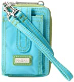 Hadaki Nylon Essentials Wristlet,Aqua/Apple,One Size