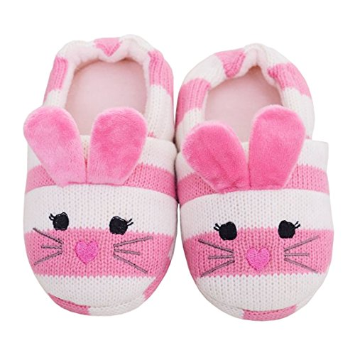 Image of Beeliss Toddler Girls Slippers Cartoon Animal Crochet Shoes