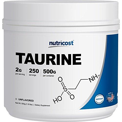 Nutricost Taurine Powder (500 Grams) - 250 Servings