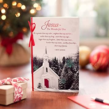 jesus the wonderful one wroy lessin verse 16 christmas boxed cards w - Christmas Card Scripture